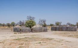 Rural Namibian Village. A rural village in Namibia stock image