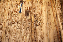 Rural, natural old wooden door Royalty Free Stock Photos