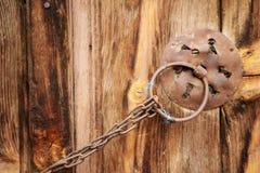 Rural, natural old wooden door Stock Photography