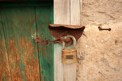 Rural, natural old wooden door Royalty Free Stock Photo