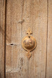 Rural, natural old wooden door. Old wooden door used in the village Royalty Free Stock Photography