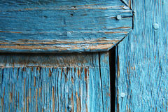 Rural, natural old wooden door. Old wooden door used in the village Royalty Free Stock Image