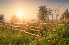 Rural nature at sunset. Royalty Free Stock Photos