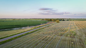 Rural Nebraska landscape in aerial view Royalty Free Stock Photos