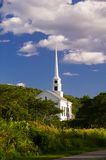 Rural New England church in early autumn Royalty Free Stock Image