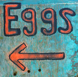 Rural New England eggs sign Royalty Free Stock Image
