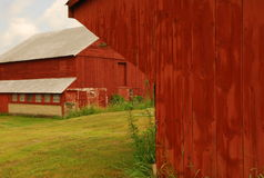 Countryside Barn. Rural New Hampshire dairy barn scene stock image
