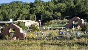Rural New Mexico Cemetery Royalty Free Stock Photography