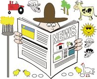 Rural news cartoon Royalty Free Stock Images