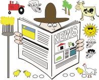 Rural news cartoon Royalty Free Stock Images