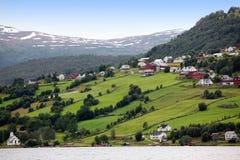 Rural Norway, Hafslo at lakes Hafslovatn Stock Photo