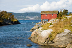 Rural norwegian landscape Royalty Free Stock Photo