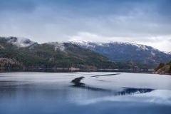 Rural Norwegian landscape with still water Royalty Free Stock Photography