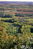 Rural Nova Scotia Fall. An aerial view of autumn harvest time in the Annapolis Valley in rural Nova Scotia, Canada Stock Image