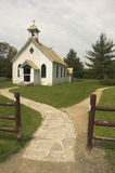 Rural Old Church. Rural Church with stone pathway Stock Photos