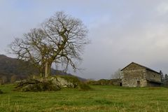 The rural old country barn. Royalty Free Stock Photo