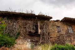 Old abandoned house. Rural old house abandoned many years ago Royalty Free Stock Photo