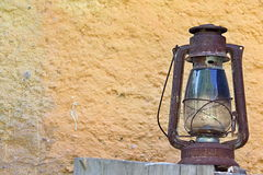 Rural Old Lantern in the Countryhouse. Photo of Rural Old Lantern in the Countryhouse Royalty Free Stock Photos