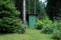 Rural old outhouse Royalty Free Stock Image