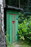 Rural old outhouse Stock Images