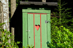 Rural old outhouse Royalty Free Stock Photography