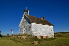 Rural one room schoolhouse Stock Photo