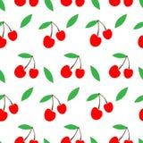 Simple cute seamless vector background of cherries. rural packaging design. cherry jam. Rural packaging design. cherry jam. simple cute seamless vector stock illustration