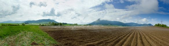 Rural panorama stock photo