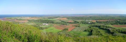 Rural panoramic. Countryside panoramic in beautiful Nova Scotia Stock Images
