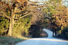 The country back roads. Royalty Free Stock Photo