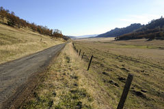 Rural pasturland scenic, California. A rural scenic of Northern California pastureland Royalty Free Stock Images