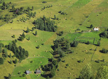 Rural pattern. Aerial view of a mountaineous area in Apuseni Mountains,Transylvania,Romania Stock Image