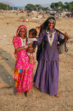 Rural people of Pushkar. The Pushkar Fair, or Pushkar ka Mela, is one of the world's largest camel fairs, held in the town of Pushkar in the state of Rajasthan Stock Photos