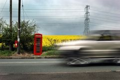 Rural phone box Royalty Free Stock Image