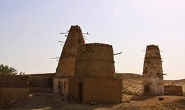 A rural pigeonry at Dakhla Oasis in Egypt Stock Photos