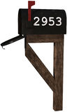 Rural Postal Service Mailbox Isolated Stock Photography
