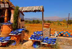 Rural pottery shop (Crete, Greece) Stock Photos