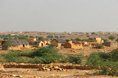 Rural poverty. In  Jaisalmer of India Royalty Free Stock Image