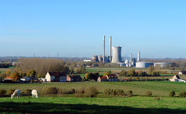 Rural power station. stock photo