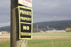 Rural Private Property Stock Image