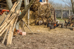 Rural property in Serbia Stock Photo