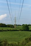 Rural pylons Royalty Free Stock Image