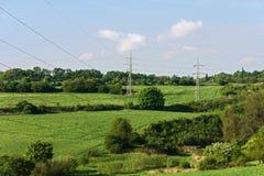 Rural pylons Stock Image