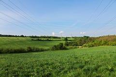 Rural pylons Stock Photos