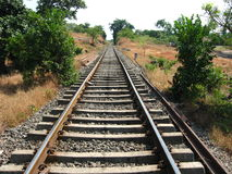 Rural Rail Lines In India Stock Photography