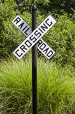 Rural rail road crossing sign Royalty Free Stock Images
