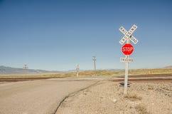 Rural Railroad Crossing Signs Stock Image
