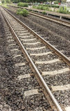 Rural railroad tracks Stock Photo