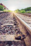 Rural railroad tracks vintage Royalty Free Stock Photo