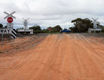 Rural Railway Crossing Australia. Royalty Free Stock Images